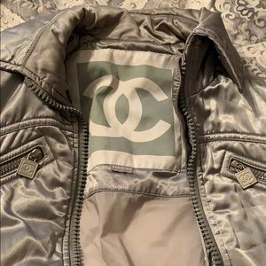 Chanel satin coat/ jacket
